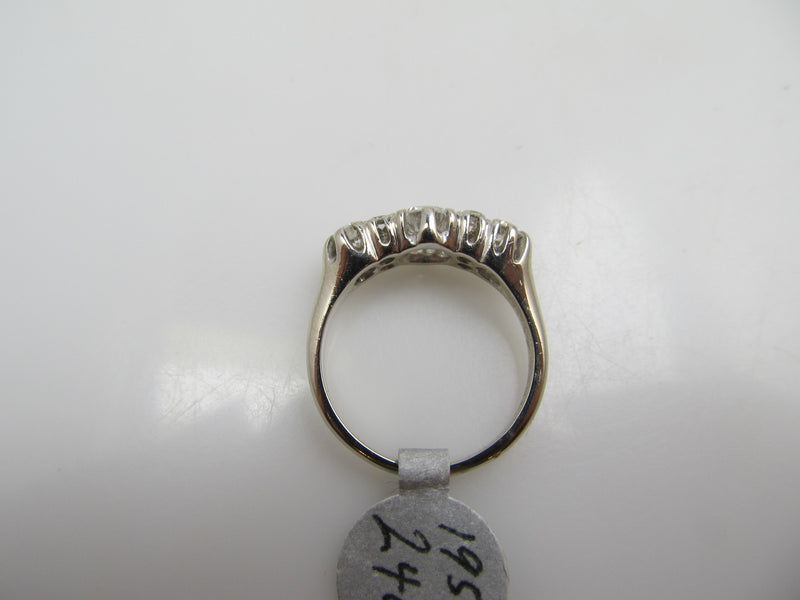 14k White Gold Band With 1ct Tw in diamonds, VS2-SI1, F-G. Circa 1940.