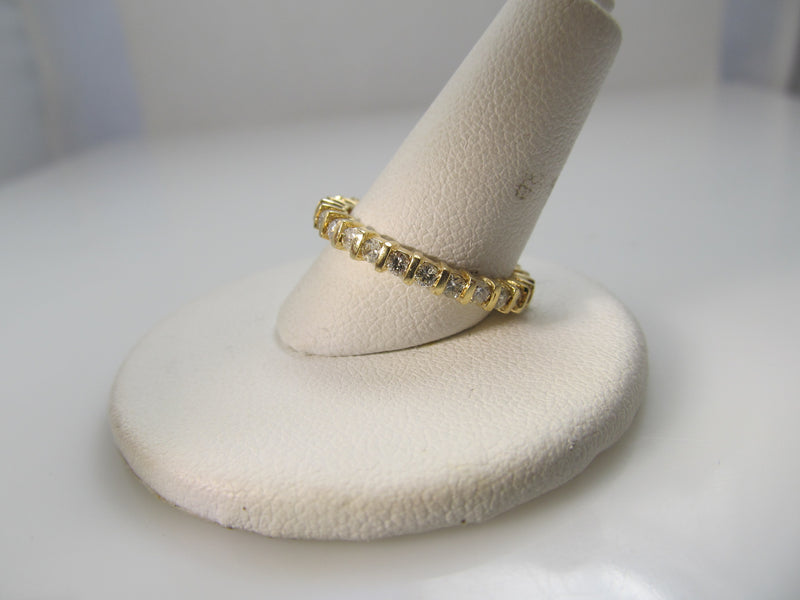 14k yellow gold .75ct diamond eternity band