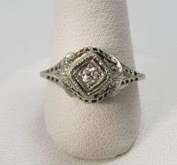 antique, diamond, ring, victorious, cape may