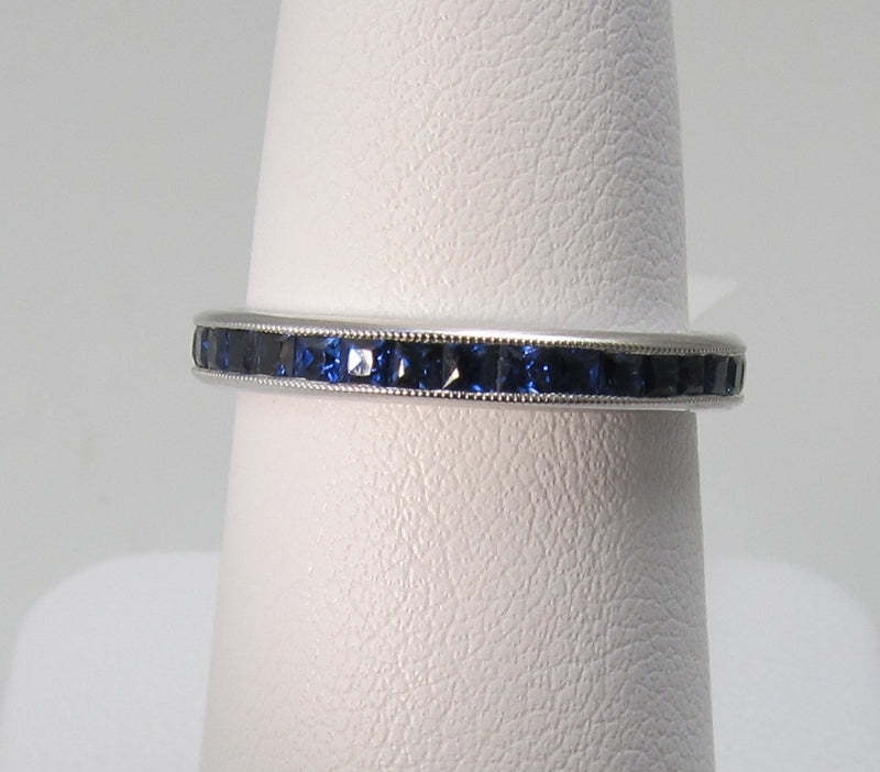 Gabriel 14k white gold sapphire full eternity band