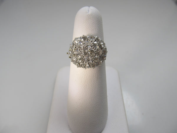Antique 2.50ct diamond cluster ring