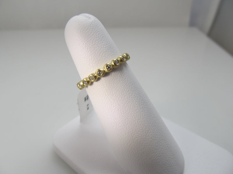 Gabriel 14k yellow gold matte finish diamond band