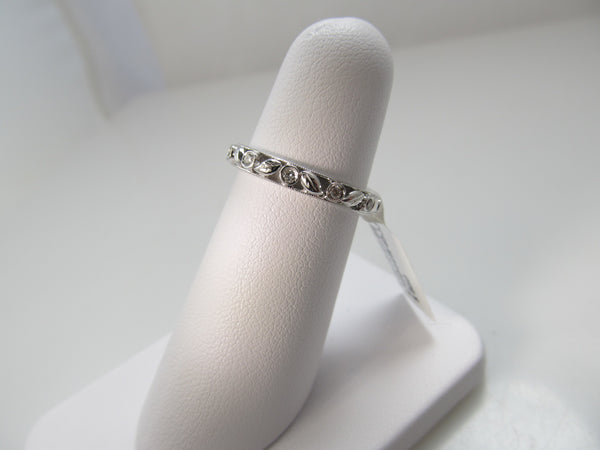 Gabriel 14k white gold diamond band