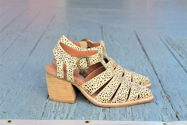 Angora cut out jaguar bootie