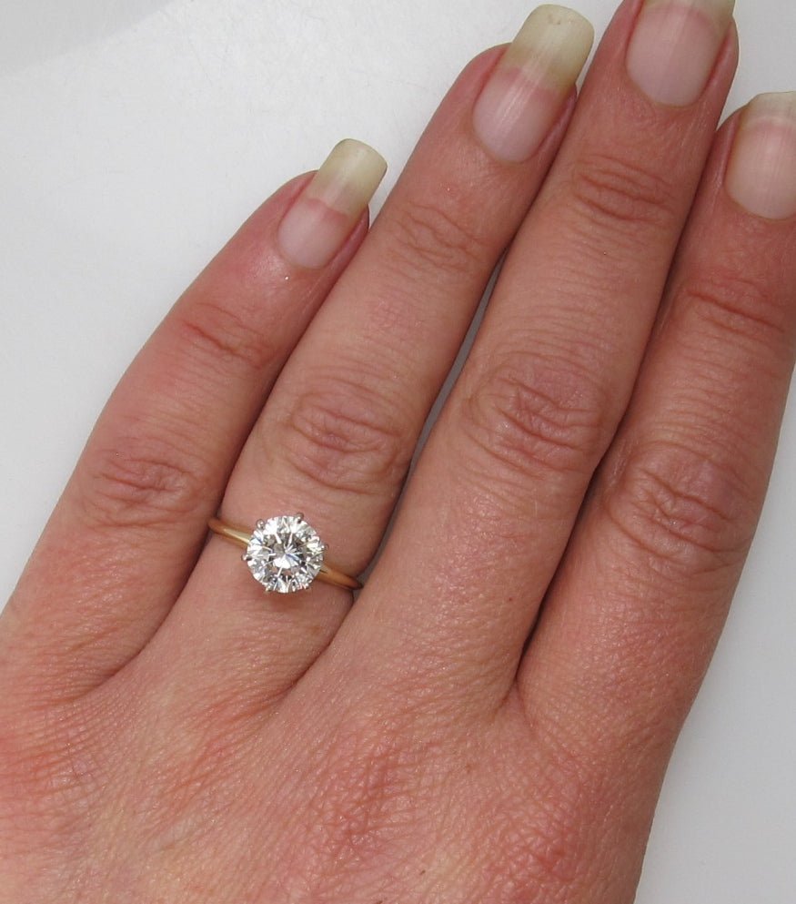 Classic tiffany set 1.94ct diamond engagement ring