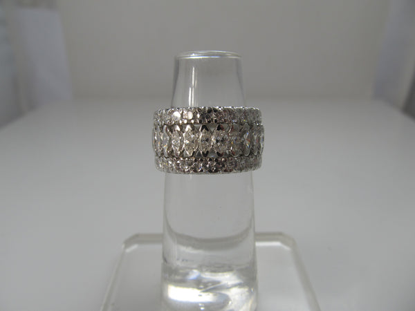 Wide platinum 4.00ct diamond eternity band