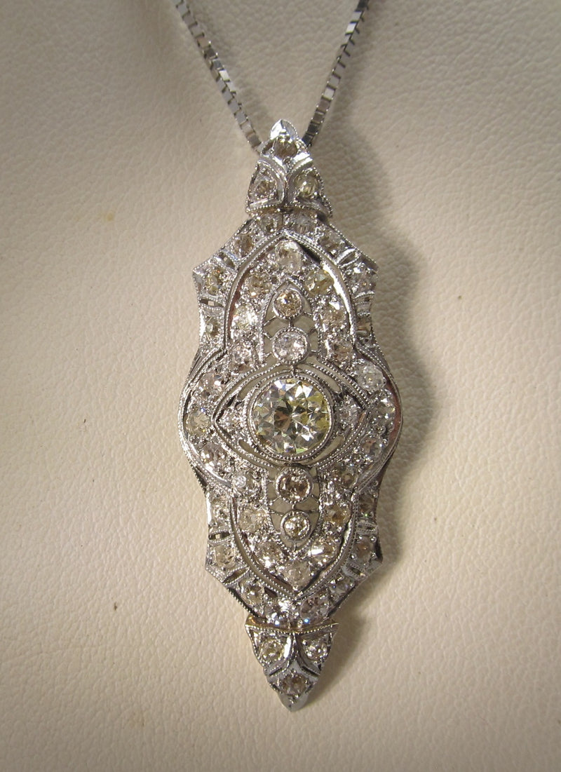 Art Deco 2.00ct diamond necklace in platinum