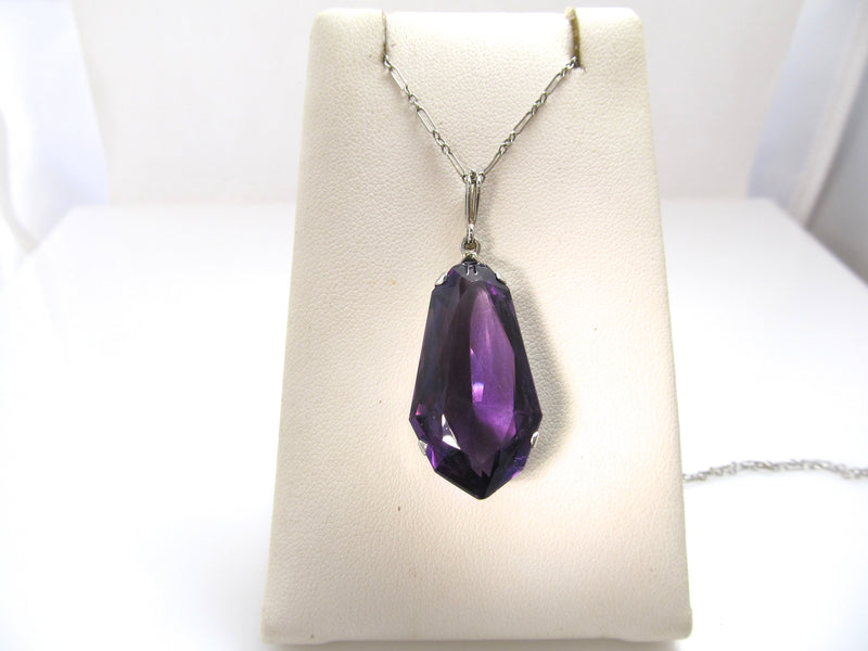 Art Deco 15.00ct amethyst necklace, circa 1920