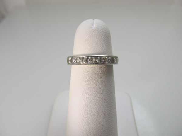 Antique French cut diamond eternity band