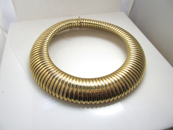 HUGE 14k yellow gold gas pipe tubogas necklace