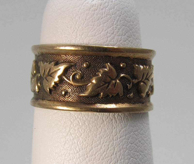 14k gold wedding band, dated 1901