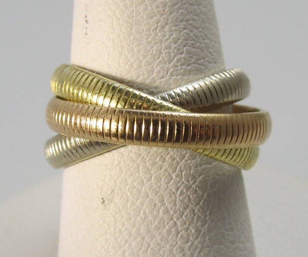 Cartier 18k trinity rolling ring