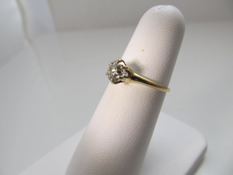 Antique .80ct diamond engagement ring