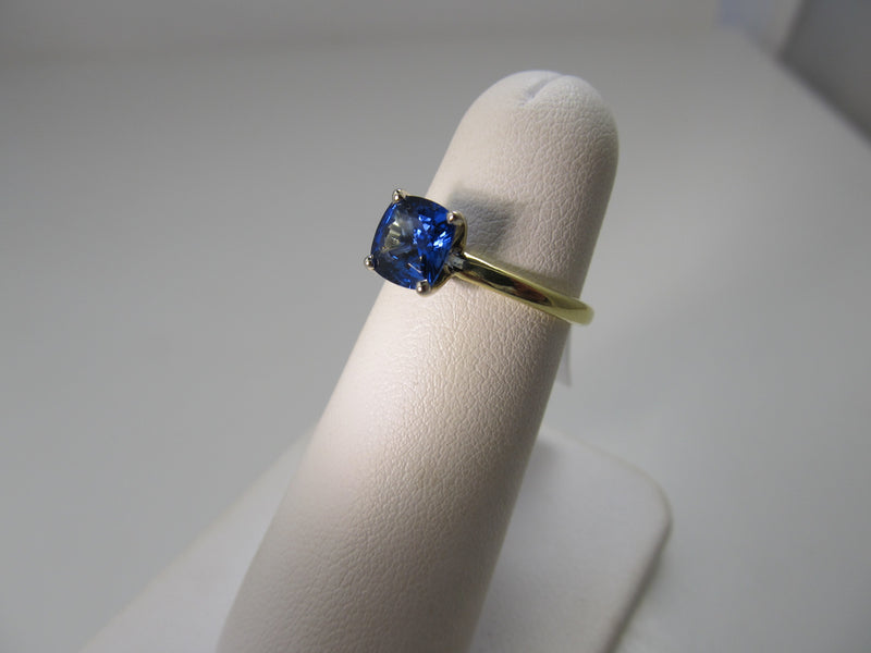 1.25ct cushion cut sapphire engagement ring