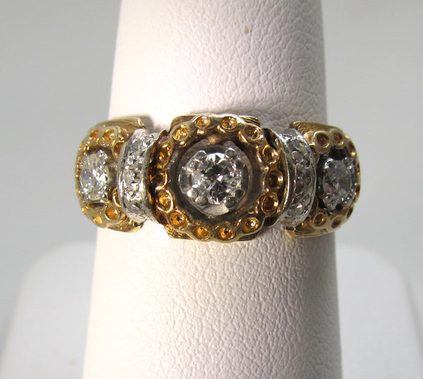 Estate 14k yellow gold ring with .50cts in diamonds