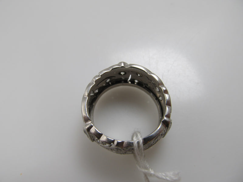 Antique wide diamond band