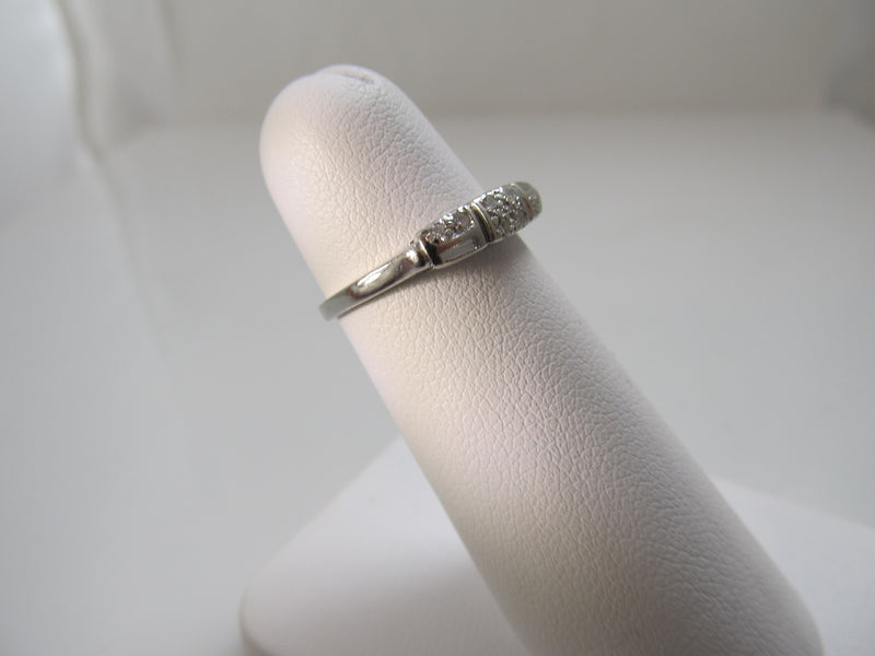 Vintage platinum and diamond band