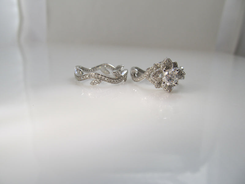 Super pretty 2ct TW diamond wedding set