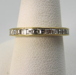 18k Yellow Gold Eternity Band With 1.25cts In French Cut Diamonds