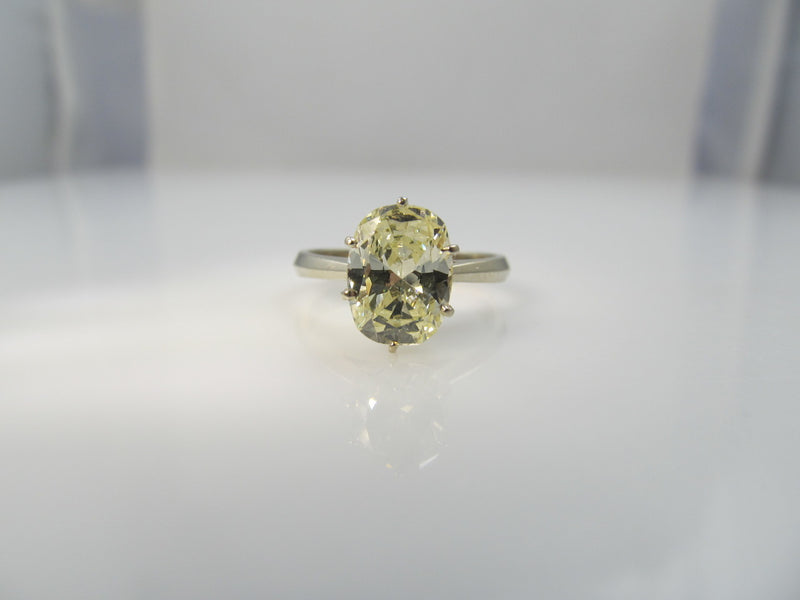 1.86ct oval cut diamond in 14k white gold