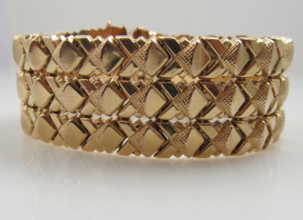 Vintage retro rose gold bracelet, antique jewelry, Victorious, Cape May