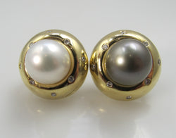 Black white pearl earrings, Victorious Cape may
