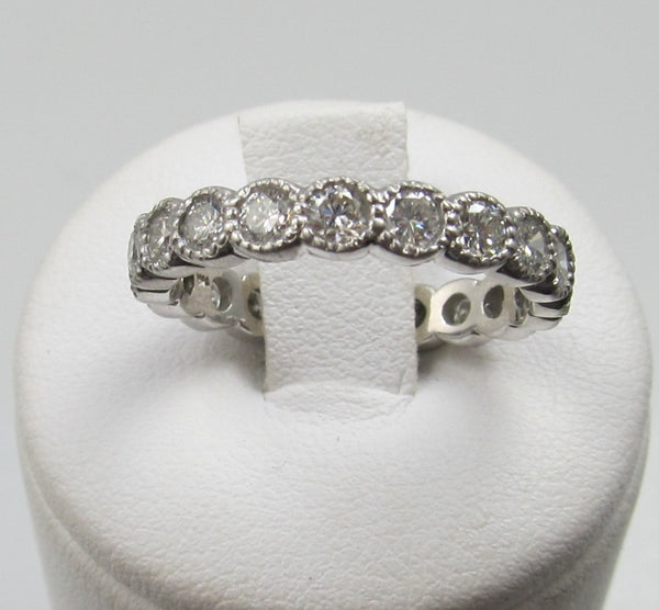 vintage diamond eternity band, victorious cape may