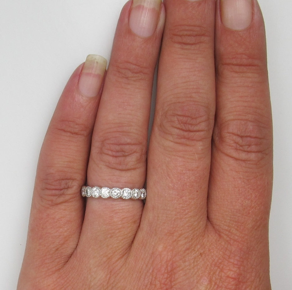 14k White Gold Eternity Band With 1.40cts In Diamonds