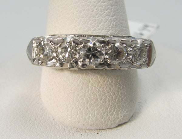 vintage fishtail diamond band, victorious cape may