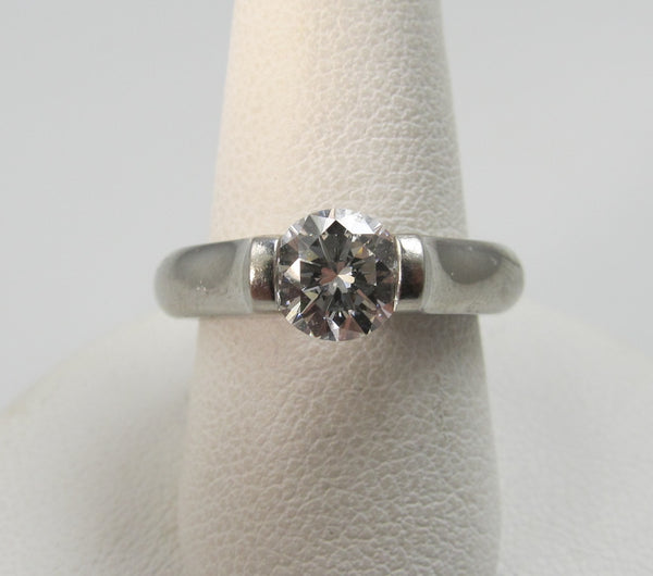 Tension Set Platinum .90 Diamond Ring By Steven Kretchmer Vvs2 F