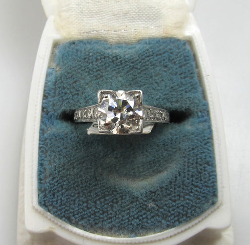 Vintage platinum engagement ring, victorious cape may