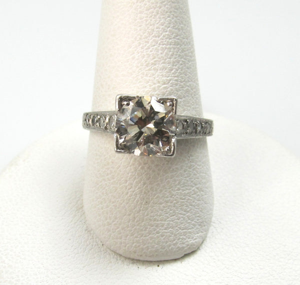 Antique Platinum Ring With A 1.30ct Center Diamond, Circa 1920