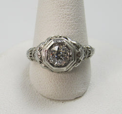 antique diamond engagement ring, victorious cape may