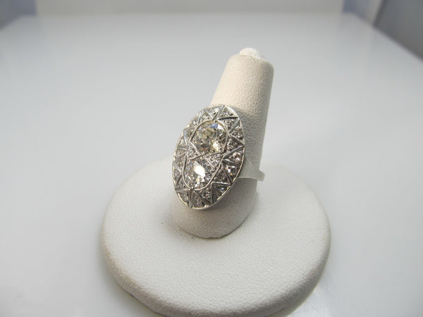 Vintage 2.40ct Tw Diamond Ring In Platinum