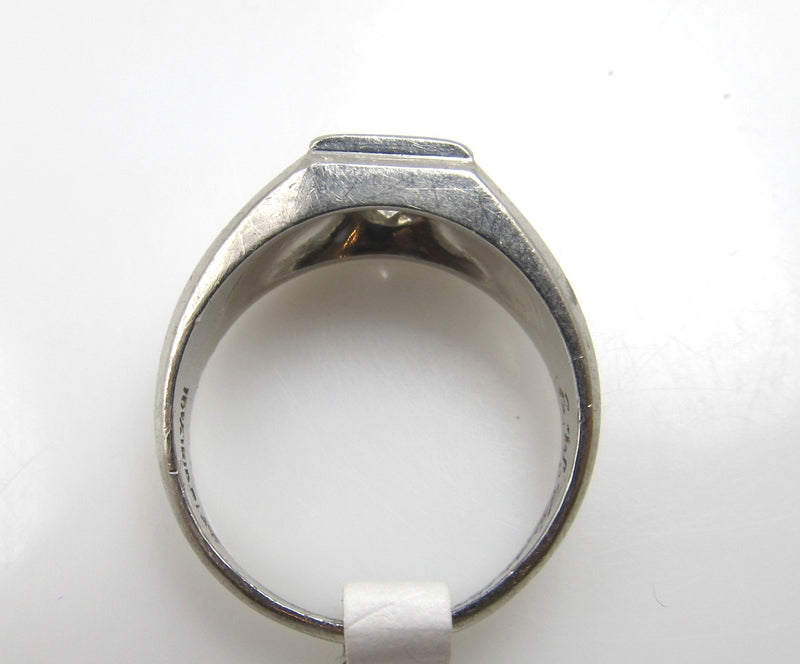 Platinum ring with a .80ct diamond, ring is dated 1933