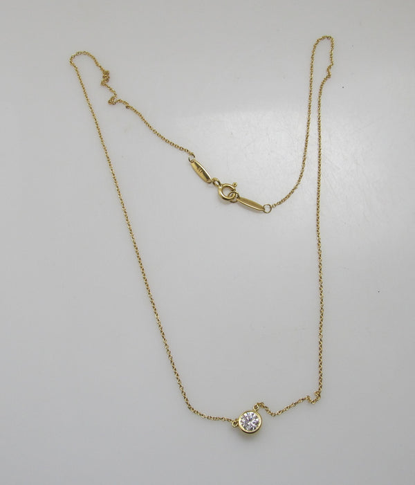 Tiffany & Co .50ct diamonds by the yard necklace