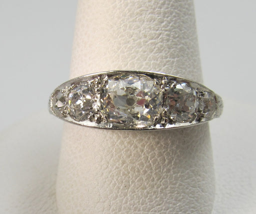 Antique Platinum Ring With 1.50cts In Diamonds, Circa 1920