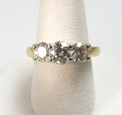 3 stone diamond ring, Antique jewelry, Victorious, Cape May