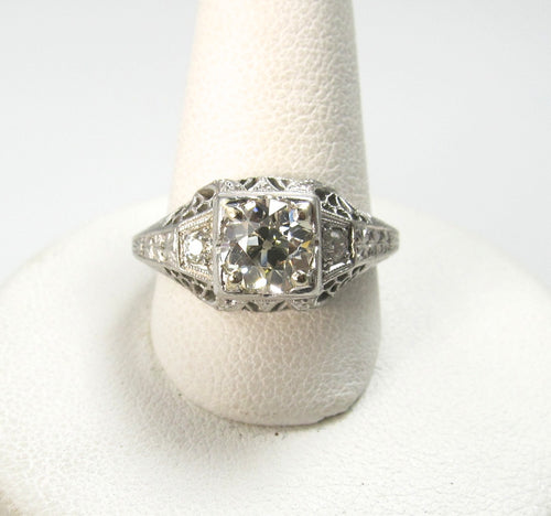 vintage diamond engagement ring, victorious cape may