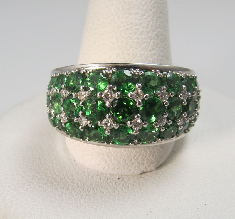 green garnet diamond band, victorious cape may