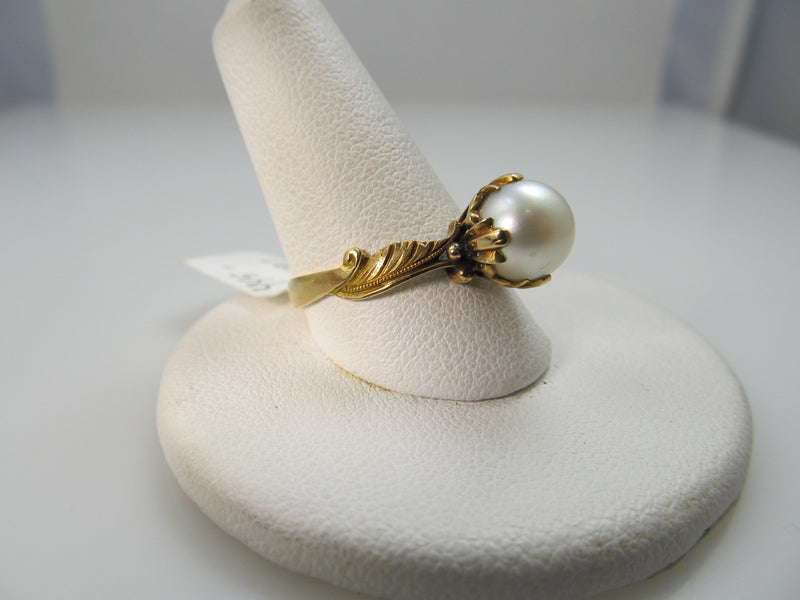 18k Yellow Gold Ring With A Pearl, Circa 1930