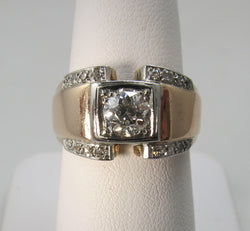 Vintage .75ct rose gold diamond ring