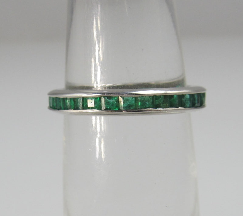 vintage emerald eternity band