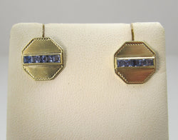 Converted cufflink earrings with sapphires, victorious cape may