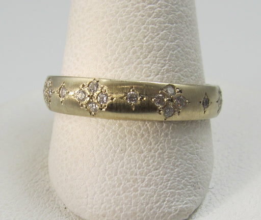 18k white gold ring with .40cts in diamonds by Adel Chefridi, retail $3,500