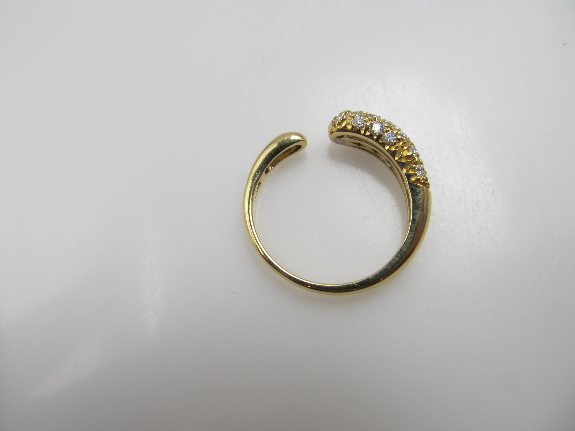18k yellow gold ring with .40cts in diamonds by Faraone Mennella, retail $2800
