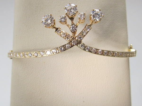 Antique style 1.80ct diamond bangle bracelet