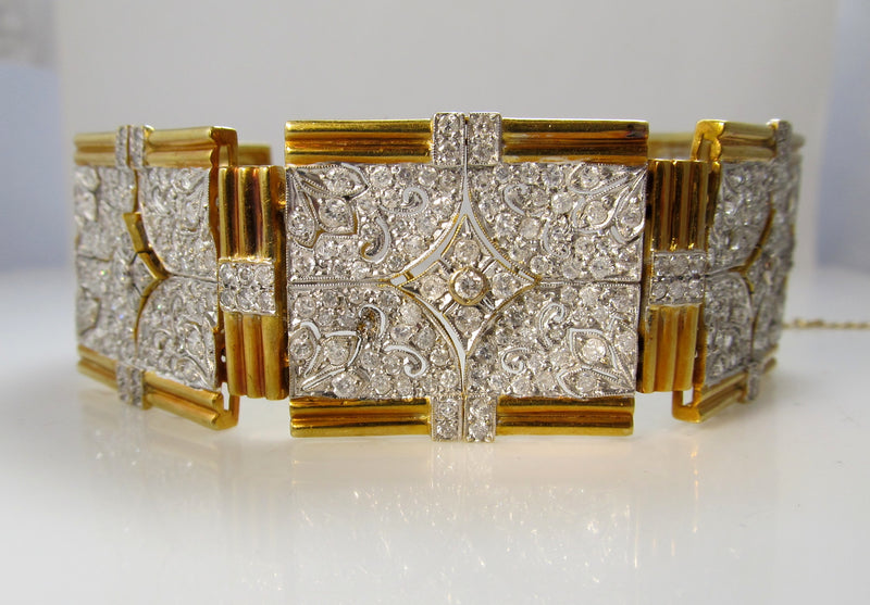 Hollywood style 18k bracelet with 13.50cts in diamonds