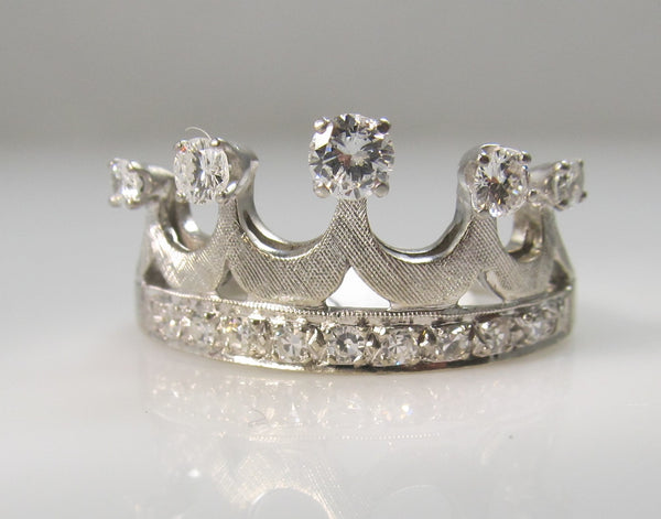 vintage diamond crown ring, victorious cape may