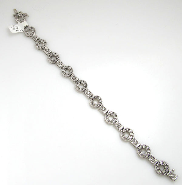 14k White Gold Bracelet With 1.10cts In Diamonds